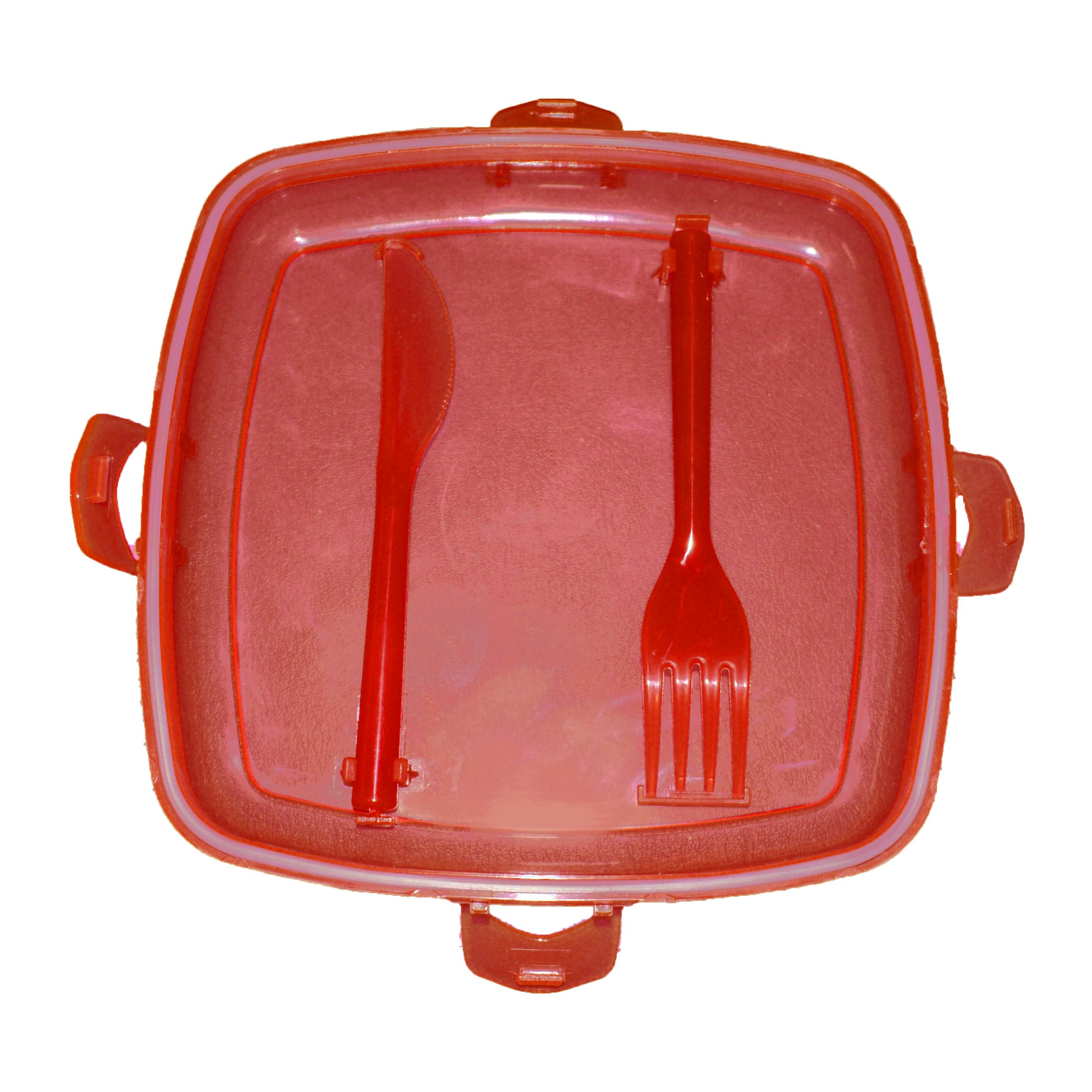 4in1 salatsch ssel 2go k hlfunktion besteck dressing beh lter salat box to go ebay. Black Bedroom Furniture Sets. Home Design Ideas